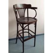 Кресло барное высокое жестким сидением Apollo (КМФ 305-2) краситель 325 шоклолад